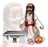 SV Creepy Carlotta Horror Mädchen Puppe stehend 0,8 Meter Sound Leuchtaugen Horror Mädchen Puppe...