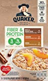 Quaker Instant Oatmeal, Fiber & Protein Variety Pack, 8Count, 12.1 Oz