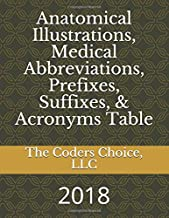 Medical Anatomical Illustrations, Abbreviations, Prefixes, Suffixes, & Acronyms Table: 2018