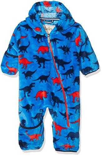 Hatley Mini Fuzzy Fleece Bundler Blouson, Bleu (Dinosaur Shapes 400), 24 Mois Bébé garçon