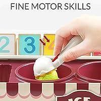 TOP BRIGHT Set Gelato Giocattolo – Gioco Gelateria – Gioco Educativo di Matematica e Sviluppo Abilità Cognitive con Cibo Finto per Bambini #4