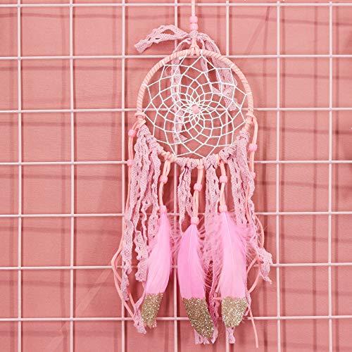 HNMY Dream Catcher Colgante Viento Campa de Viento Color Creative Regalo Indio Terminado Chica Corazón Dream Catcher Coche Decoración del hogar