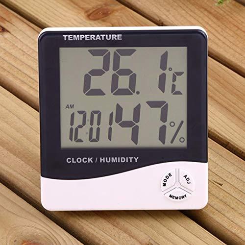 MASUNN Digitale LCD Thermometer Hygrometer Vochtigheid Meter Kamer Indoor Temperatuur Klok