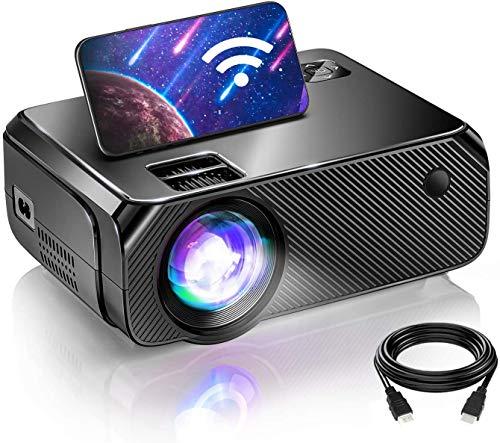 Bomaker Proiettore WiFi, Videoproiettore Full HD 1080P Nativo Supportato da Esterno, Proiettore di Gioco 720P Nativo, iOS/ Android / Laptop / PS5 / Win10, Compatibile con TV Stick