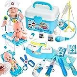 Buyger Malette Docteur Enfant Jouet Deguisement Docteur Garcon Jeu d'imitation Medecin Outils Cadeau pour Enfant (Bleu)