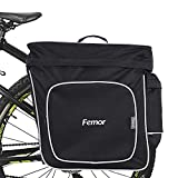 Femor Sacoche de vélo porte-bagages, Double Sacoche de 30 L, Grande Capacité, Sacoche de Roue Arrière, Plusieurs Poches, Réfléchissant, Nylon, pour Vélo/ Moto