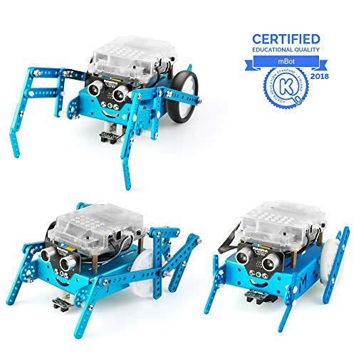 Makeblock mBot Pacchetto Aggiuntivo Sei Zampe, Robotica 3-in-1 Pacchetto Aggiuntivo, 3 Forme, Scarabeo, Mantis, Crazy Frog