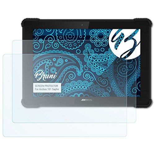 Bruni Schutzfolie kompatibel mit Archos 101 Saphir Folie, glasklare Bildschirmschutzfolie (2X)