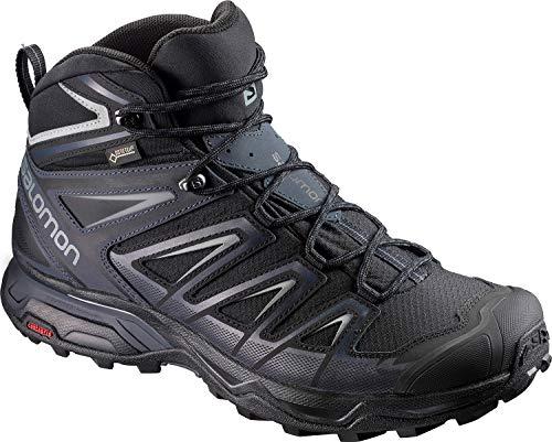Salomon X Ultra 3 Mid GTX, Chaussures de Randonnée Hautes Homme, Noir (Black/India Ink/Monument), 43 1/3 EU