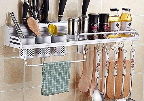ILQ Mur de cuisine Murs Crochet de cuisine gratuit Crochets pendentifs Lave-vaisselle Étagère de rangement Étagère multifonctionnelle,E2