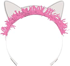Creative Converting 329407 8 Count Tiara Headbands, Purr-FECT Party