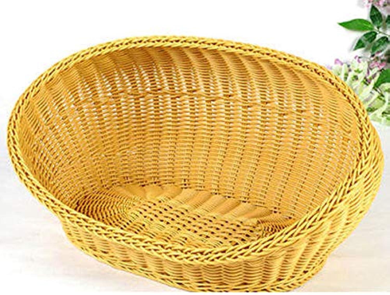 Kennel Basket Summer Bamboo Rattan