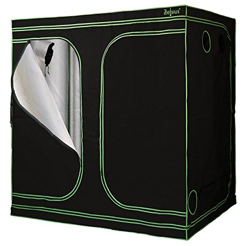 Zelsius Tente de culture MyHomeGrow | Chambre ou armoire de culture, chambre noire, serre (240 x 120 x 200 cm, Noir)