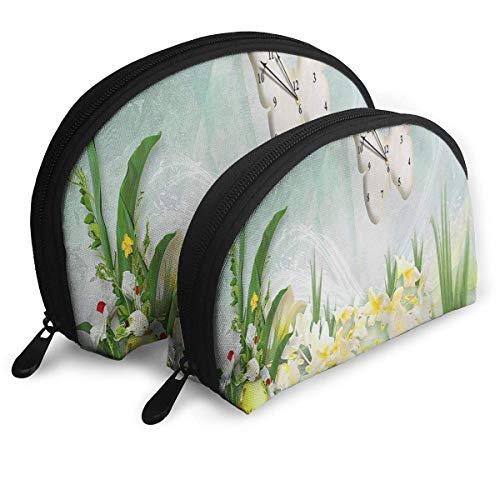Schminktasche Ducks Time Portable Shell Kosmetiktaschen für Mutter Thanksgiving Day Geschenk 2 Stück