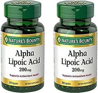 Nature's Bounty Alpha Lipoic Acid 200 mg 30 Capsules (Pack of 2)