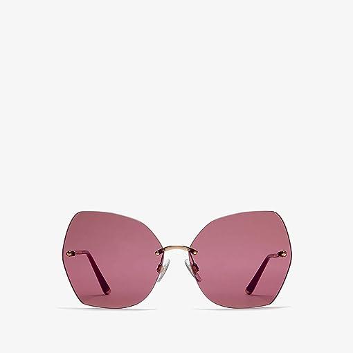 Pink Gold/Dark Violet Mirror Red
