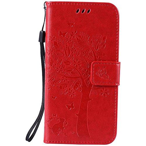 Nancen Compatible with Handyhülle Galaxy S7 / SM-G9300 Flip Schutzhülle Zubehör Lederhülle mit Silikon Back Cover PU Leder Handytasche