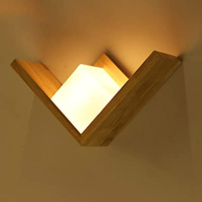 PoJu of Creative Single Leds Lámpara de Pared rígida Cordón de Madera Recepción Escalera Lámpara de Pared Dormitorio Lámpara de Noche Lámpara: Amazon.es: Hogar