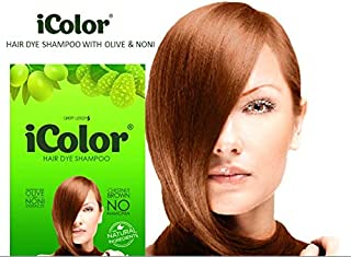 Great Lengths iColor Hair Dye Shampoo Chestnut Brown 30ml (1.014 ounces) x 10 sachets in a box, shampoo-in hair color, dye,in 20-30 minutes, DIY, convenient, easy to use