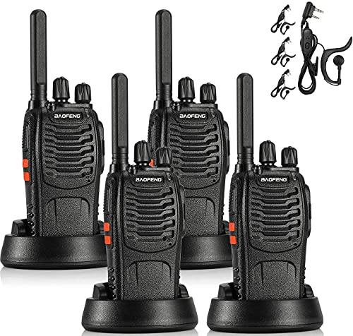 BAOFENG BF-88ST FRS Radio Two Way Radio Long Range, Upgrade Version of BF-888S, License-Free Walkie Talkie VOX USB Charging LED Flashlight, with Earpiece, 4 PCS. Buy it now for 43.99