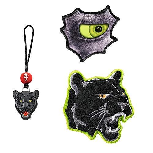 """Step by Step Magic Mags """"Wild Cat"""", 3-teilig, 2 Magnet-Applikationen und 1 Anhänger, als Ergänzung für den Schulranzen oder Vorschulrucksack, für Jungen"""