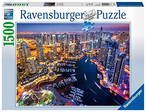 Ravensburger Puzzle Skyline, Dubai nel Golfo Persico, Puzzle 1500 pezzi, Relax, Puzzles da Adulti, Dimensione: 80x60 cm, Stampa di alta qualità, Travel, Viaggi