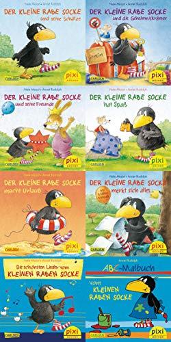 Pixi-Serie Nr. 193: Der kleine Rabe Socke : 8 x 8 Stück (Pixi-Box, Band 193)