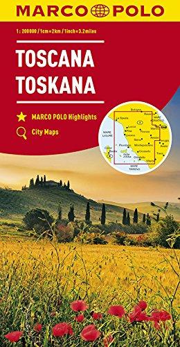 Marco Polo Toscane 7: Wegenkaart 1:200 000