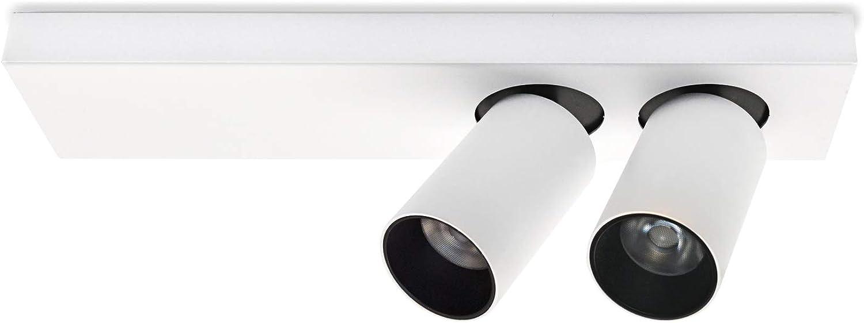 Aufbauleuchte Deckenleuchte Anbauleuchte - beweglich MANOR (2x11W mit Citizen Diode) Weiss Inkl. 1 X Deckenleuchte Strahler Deckenlampe Kronleuchter aus Aluminium 230V, eingebaute LED-Lampen