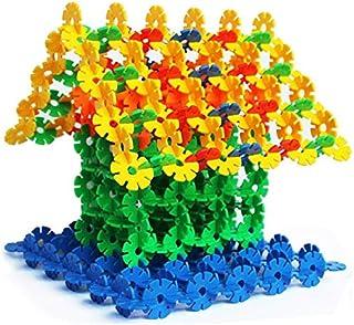 100pcs Building Blocks Child DIY Assemblage Toy Educational Multicolor Snowflake Piece Creative Bricks Kids Gift