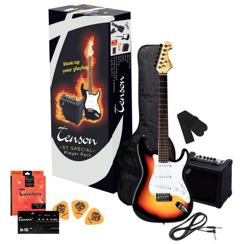 Tenson F502543 E-Gitarre ST Player Pack, sunburst