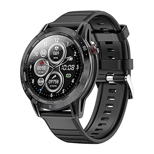 ZOZIZZ Reloj Inteligente, Reloj Inteligente a Prueba de Agua IP68 con Reloj de Fitness con Pantalla táctil Completa a Color Grande de 1.3 '' con Monitor de frecuencia cardíaca,D