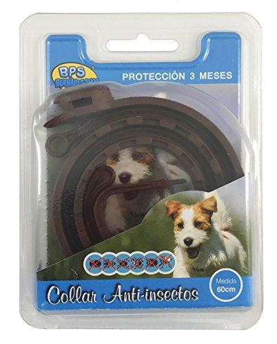 BPS® Collar Antiparasitario para Mascotas Perros/Gatos Antipulgas y Garrapatas Protección 3 Meses BPS-4000 (para Perro 60cm) ✅