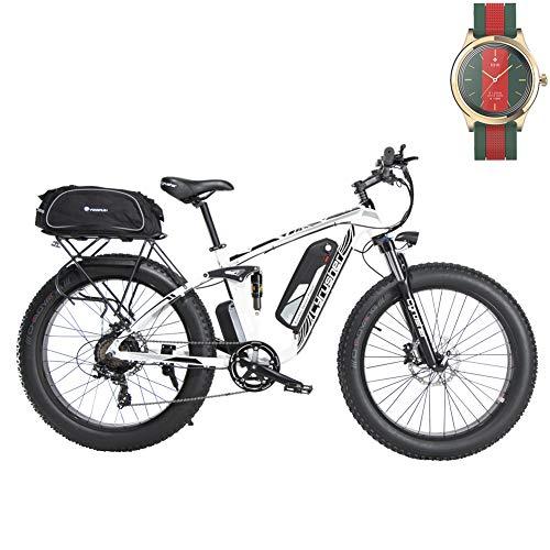 Extrbici Bicicleta EléCtrica 750w / 1500w Fat Tire Actualizado 7 Velocidades Beach...
