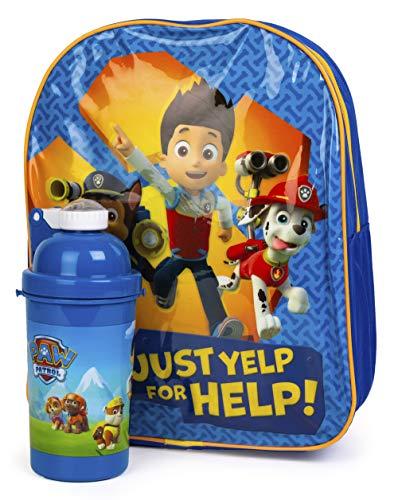 Paw Patrol Kids Back to School Bundle Backpack and Drinks Bottle (Boys)