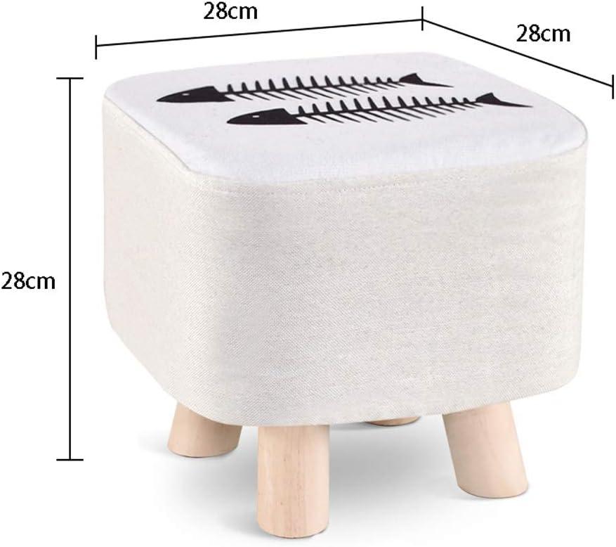 Tabouret en bois massif Accueil Banc Chaussures Creative Mode Tabouret Salon Tabouret Table basse ronde Tabouret petite chaise basse Tabouret (Color : Q) Q