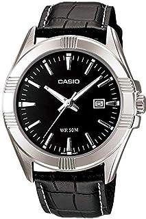 ساعة بسوار جلدي للرجال من كاسيو طراز MTP-1308L-1A