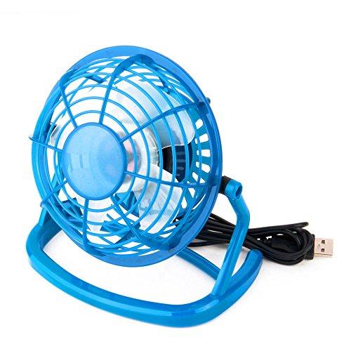 ?GGG Portable USB Bureau Mini ventilateur de refroidissement USB ventilateur électrique Bleu