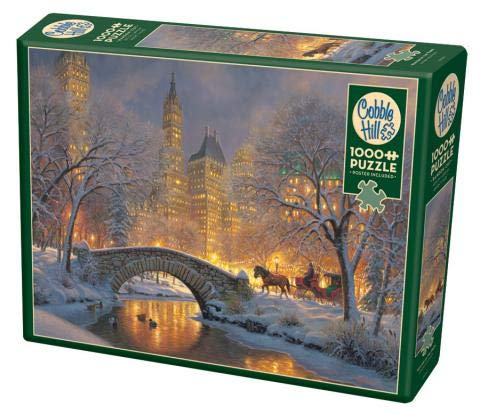 Cobble Hill 1000 Piece Puzzle - Winter in The Park - Sample Poster Included