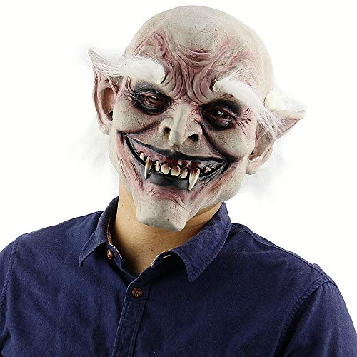 XIAMAZ Horror Volwassene Enge Clown Props Duivel Vlam Zombie Masker Halloween Kostuum Monster Maskerade Party Masker