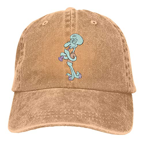 Syingshi Design Print Breathable Strapback Cap Play The Flute Squidward Tentacles Fashion Baseball-Cap