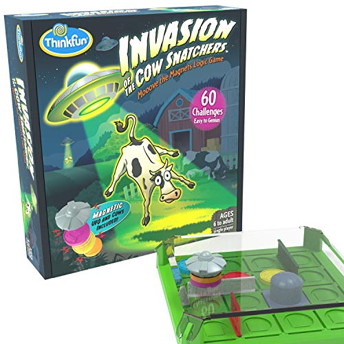 ThinkFun Invasion of the Cow Snatchers STEM Toy and Logic Game for Boys and Girls Age 6 and Up - A Magnet Maze Logic Puzzle
