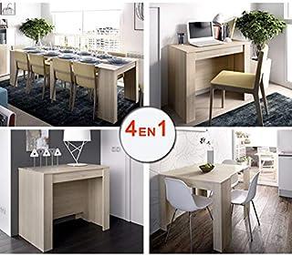 HABITMOBEL Mesa Consola Extensible de Comedor o Mesa Cocina, de 54 cm a los 239 cm de Largo en 5 Posiciones