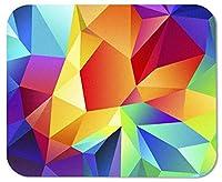ゲーミングマウスパッドカラフルな幾何学的形状カスタマイズされた四角形の滑り止めラバーマウスパッドゲーミングマウスパッド