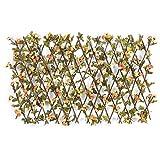 TCross - Recinzione retrattile, in legno artificiale, decorazione da giardino, guardavia foglia, griglia a rete privacy (colore : Medium G)