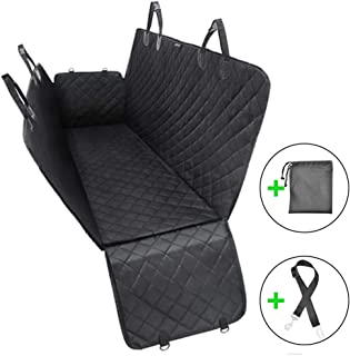 WZTO Pet Car Seat Covers, Waterproof Dog Pet Car Seat Cover Easy Clean for Cars Trucks & SUVs Mercedes Benz, BMW, Ford, GMC Back Seat Black