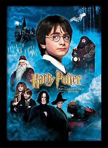 """30 x 40 cm de Harry Potter """"piedra filosofal"""" impresión enmarcada"""