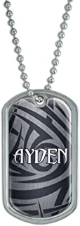Graphics and More Dog Tag Pendant Necklace Chain Names Male Ar-Ay