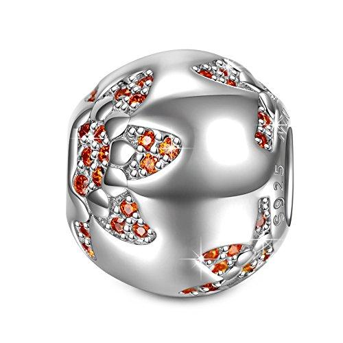 NINAQUEEN Charm Adattarsi Pandora Il miglior Regalo per la Mamma I Gioielli della Mamma Fiore Argento 925 Perline