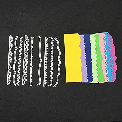 FNKDOR Stanzschablone Scrapbooking Stanzen Schablonen Stanzmaschine Stanzformen Prägeschablonen, Zubehör für Sizzix Big Shot und andere Prägemaschine (E)